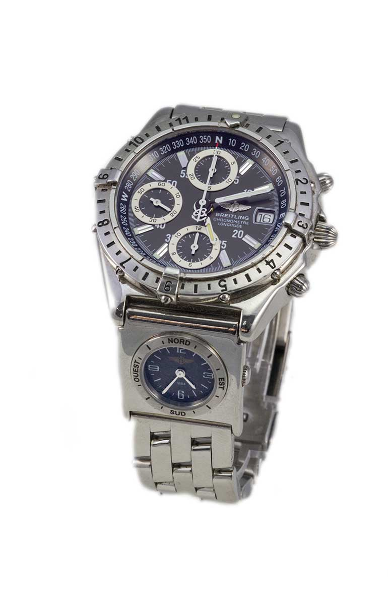 Breitling Chronomat Langitude stainless steel automatic with dual time pro 1 bracelet Ref # A20348