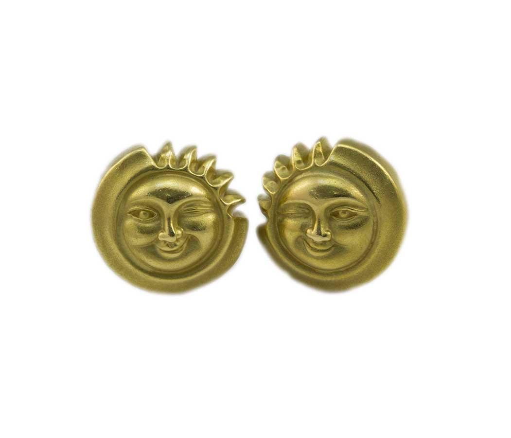 Kieselstein Winking Sun Earrings