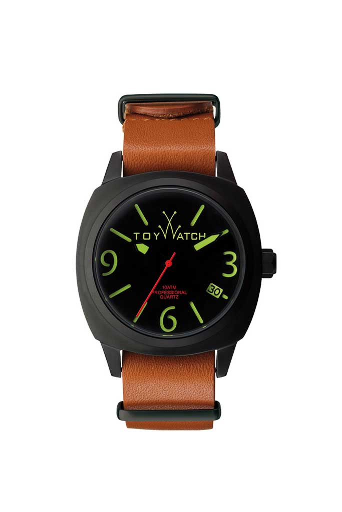 Toy Watch Icon One-Time Black with Lime