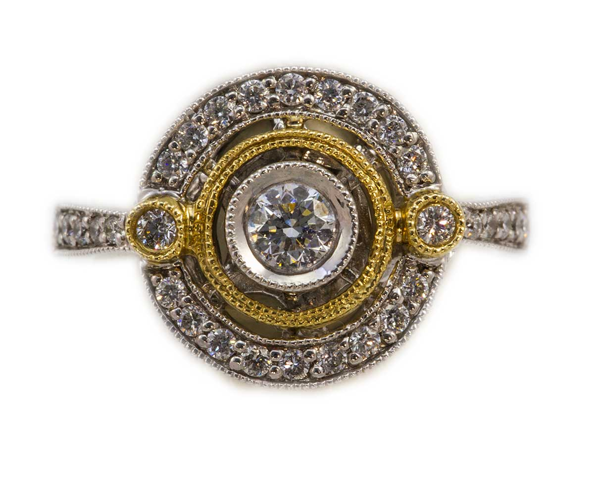 Gold Diamond Ring by Gabriel Company