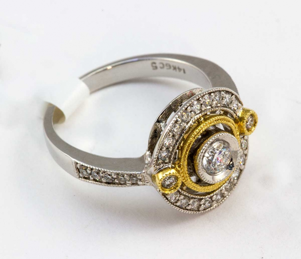 White and Yellow gold Gabriel & Co. Ring