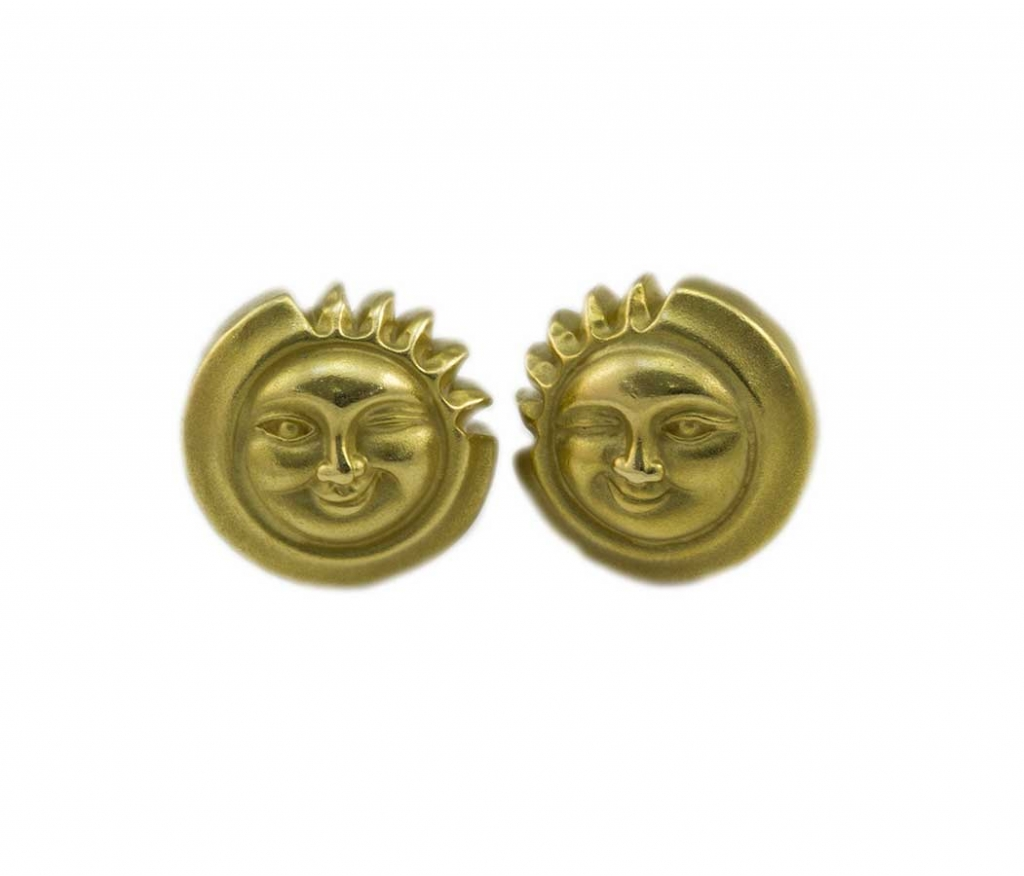 Kieselstein Winking Sun Earrings