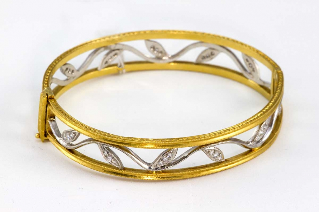 Cathy Waterman diamond bangle bracelet