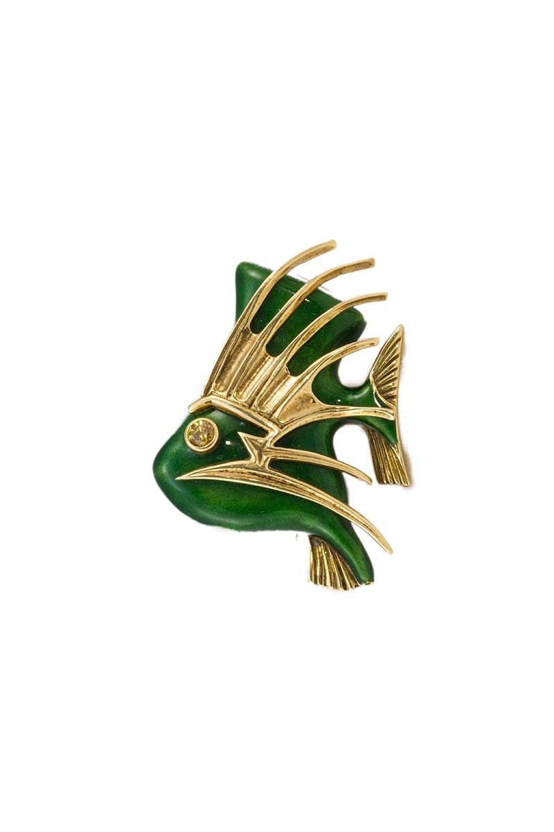 Cartier Tropical Fish Brooch Valia S Jewelers