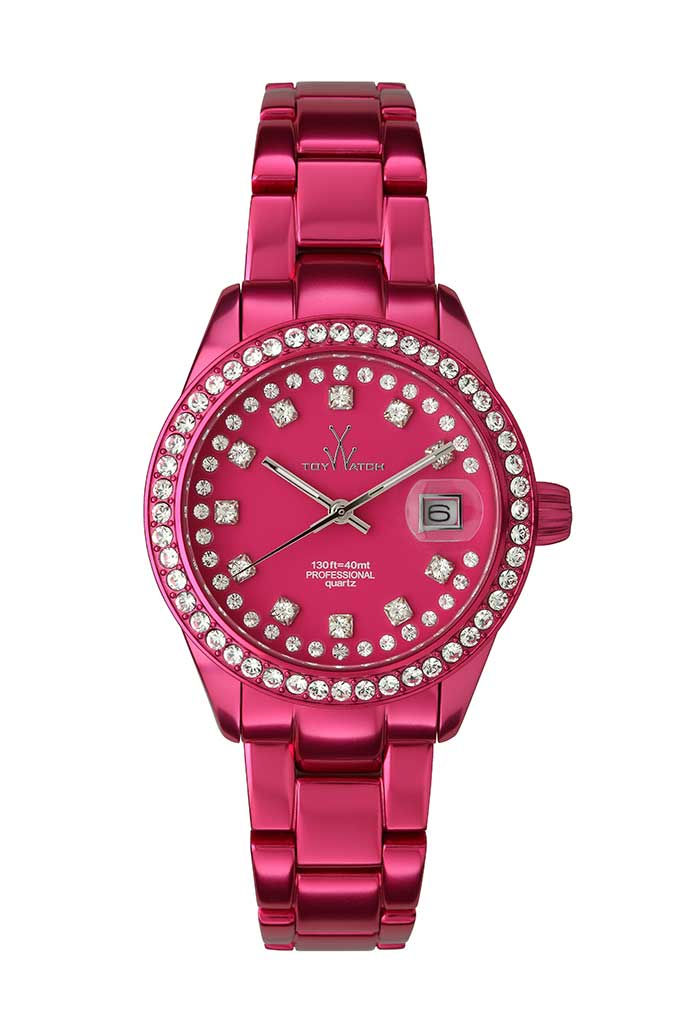 Toy Watch Only Time Metallic Shocking Pink