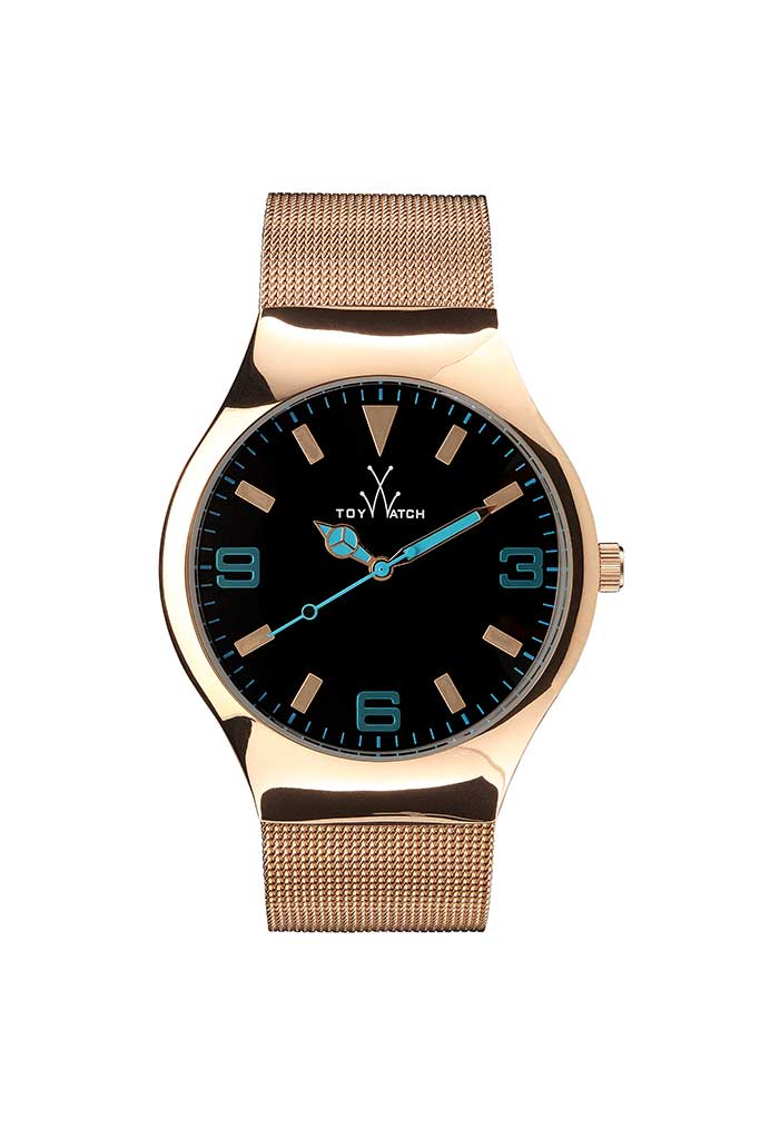 Toy Watch Mesh Only-Time Pink Gold