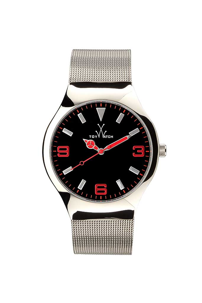 toy watch mesh only-time black