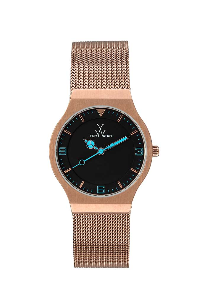 toy watch only-time mesh pink gold