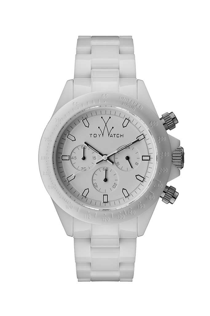Toy Watch Monochrome Chrono White
