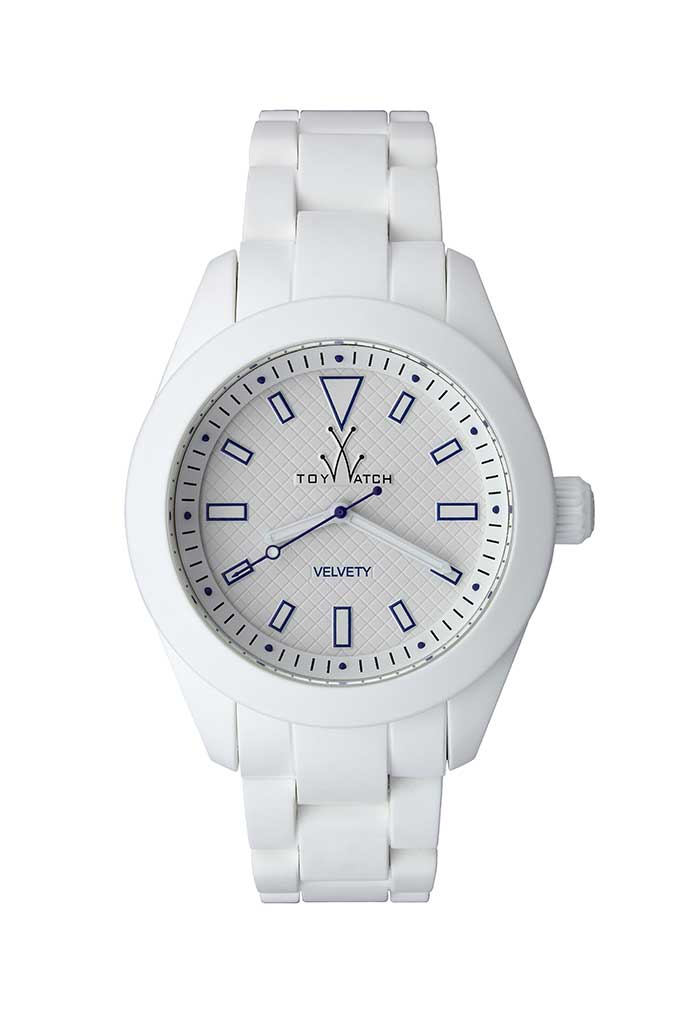toy watch velvety only-time white