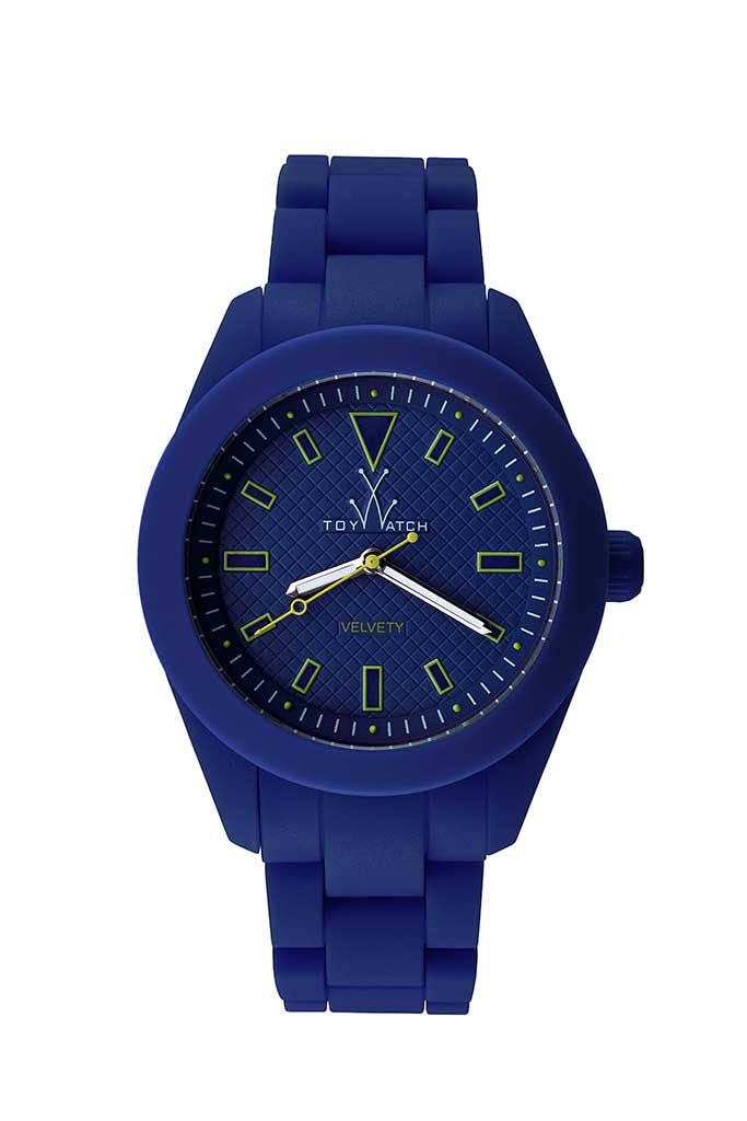 toy watch velvety only-time blue
