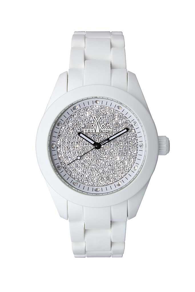 toy watch velvety only-time white pave