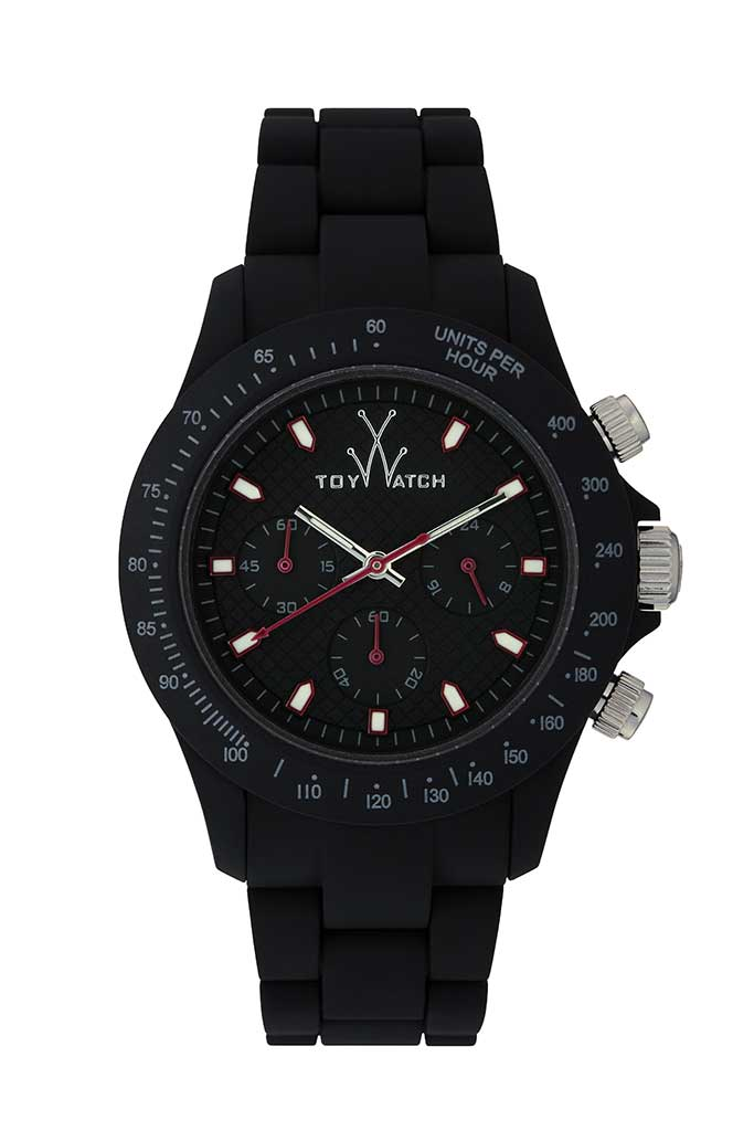 toy watch velvety chrono black